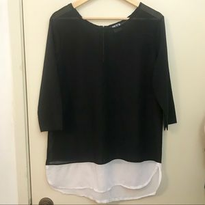 Sheer black and white tunic. Large JM collection